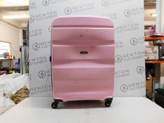 1 AMERICAN TOURISTER BON AIR COTTON CANDY PINK COMBI-LOCK HARDSIDE PROTECTION LUGGAGE CASE RRP £