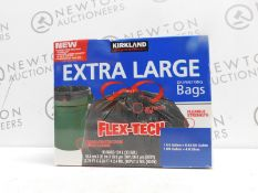 1 BOX OF KIRKLAND SIGNATURE DRAWSTRING EXTRA LARGE 33 GALLON BAGS (APPROX 60) RRP £39.99