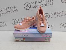 1 BOXED (BOTH LEFT FOOT) LADIES SKECHERS SKECH-AIR INFINITY PINK TRAINERS UK SIZE 4 RRP £49