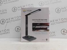 1 BOXED OTTLITE EXECUTIVE LED DESK LAMP WITH WIRELESS CHARGING RRP £49.99