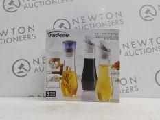 1 BOXED 3 TRUDEAU OIL & VINEGAR BOTTLES RRP £29.99