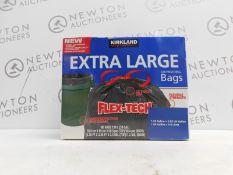 1 BOX OF KIRKLAND SIGNATURE DRAWSTRING EXTRA LARGE 33 GALLON BAGS (APPROX 60) RRP £39.99