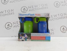 1 BOXED SET OF 2 TAKEYA THERMOFLASK KIDS INSULATED STAINLESS STEEL WATER BOTTLES RRP £29.99
