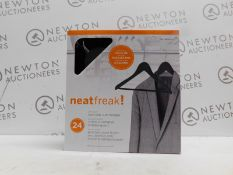 1 BOXED NEATFREAK RUBBERISED HANGERS, 24 PACK RRP £29