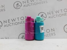 1 SET OF 2 TAKEYA THERMOFLASK KIDS INSULATED STAINLESS STEEL WATER BOTTLES RRP £29.99