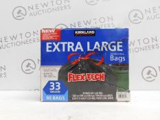 1 BOX OF KIRKLAND SIGNATURE DRAWSTRING EXTRA LARGE 33 GALLON 90 BAGS (APPROX) RRP £39.99