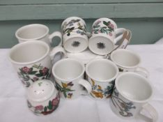Portmeirion 'Botanic Garden' set of 6 coffee cans and saucers,