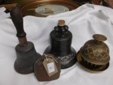 Metal bourbon whiskey Liberty bell keg, brass potpouri,