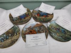 Pristine collection of 12 Ford Tractor plates by Michael Herring each with certificate of