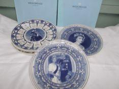 8 Wedgwood Royal Family/Calendar plates with original boxes