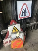 ASSORTED WARNING SIGNS