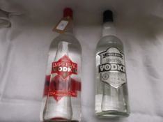 Bottle of Charles House Imperial vodka (100cl) another Imperial Special dry vodka (70cl)