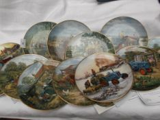 Pristine collection of 12 Danbury Mint Ford Tractor plates by Michael Herring each with