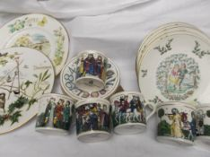 Royal Doulton almost complete 6 piece Christmas religious mug set, sel.