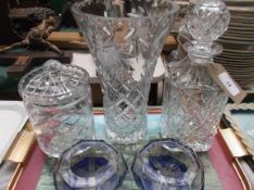5 pieces of cut glass incl.