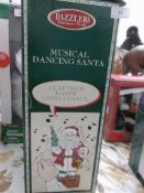 Boxed Dazzlers Christmas World model of a musical dancing Santa