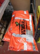 Vizwear hi vis jacket, size 4XL, new and packaged.
