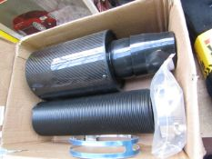 Car induction kit with carbon fiber effect, new and boxed.