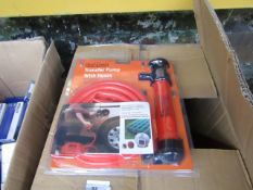 Stag Tools Transfer Pump with hoses set, new and packaged.