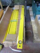 80cm Ruler with spirit level, new and factory sealed.