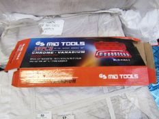10 Piece MLG Tools socket set with ratchet handle, new and boxed
