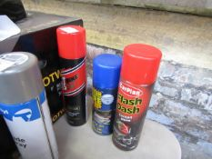 2x Items being; 500ml cockpit shine with a 400ml winter tyre grip and a 400ml degreaser, new.