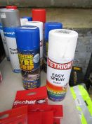 2x Items being; 400ml winter tyre grip with a 400ml Tetrion easy spray paint, new.
