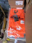 Vizwear hi vis jacket, size L, new and packaged.