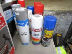 2x Items being; 400ml winter tyre grip with a 400ml Tetrion easy spray paint and a 500ml Tetrosyl