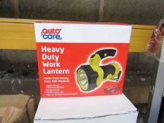 Auto Care heavy duty lantern, new and boxed.