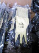 10 x Polyco Matrix Rubber Work Gloves