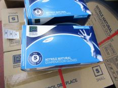 10x Boxes of 200 Nitrile Examination Gloves (2000 gloves in total), new size small