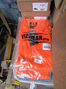 Vizwear hi vis jacket, size M, new and packaged.