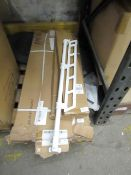 Wood & Metal Shelving unit dismantled in a box.unchecked