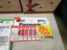 2x Packs of 10 Panasonic AA batteries, new and boxed.