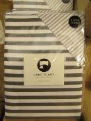Sanctuary Harper Mono Superking Reversible Duvet Set,100 % Cotton RRP £79.99 New & Packaged