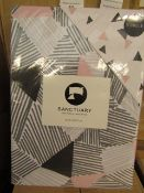 Sanctuary Bailey Multi Coloured Reversible Duvet Set Single,100% Cotton RRP £49.99 New & Packaged