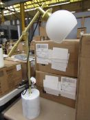 | 1x | SWOON RHE TABLE LAMP IN BRASS/ MARBLE | BOXED | SKU - | RRP £ 90 |