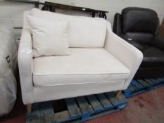 White Meadow Snuggle Seat with Wood Feet 1.1m x 90cm ex-display