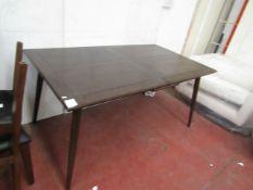 | 1x | Swoon Ginsberg extending dining table in Dark Mango | no box | SKU - | RRP £549