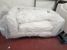 White Meadow Snuggle Seat with Chrome Legs 1.3m x 90cm ex-display