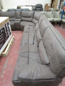 Kuka sectional Electric reclining Cinema sofa with storage arm rest and USB charing ports and cup