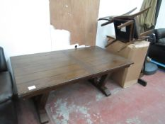 Bayside 7 piece dining table set, missing the bolts to fully put together, the table has some