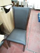 5 x Bayside furnishings Dinning Chairs, appear to be unused with tags