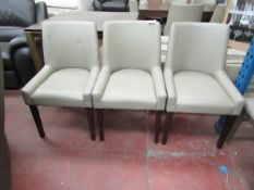 3x Dining chairs