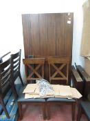 Bayside 7 piece Dining Set, Unchecked £779.89