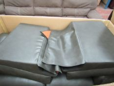 Avril 2 Seater Grey Manual reclining Sofa, comes in transport box (which must be taken alonmg with