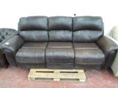 Polaski 3 seater manual reclining sofa, mechanism working