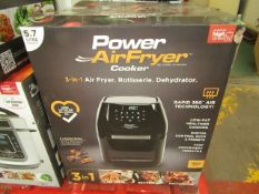 | 1x | POWER AIR FRYER 3 IN 1 5.7L | UNTESTED,BOXED & UNCHECKED FOR ACCESSORIES | NO ONLINE RE-SALE