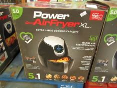 | 1X | POWER AIR FRYER 5 L | UNCHECKED AND BOXED | NO ONLINE RE-SALE | SKU C5060191469838 | RRP £